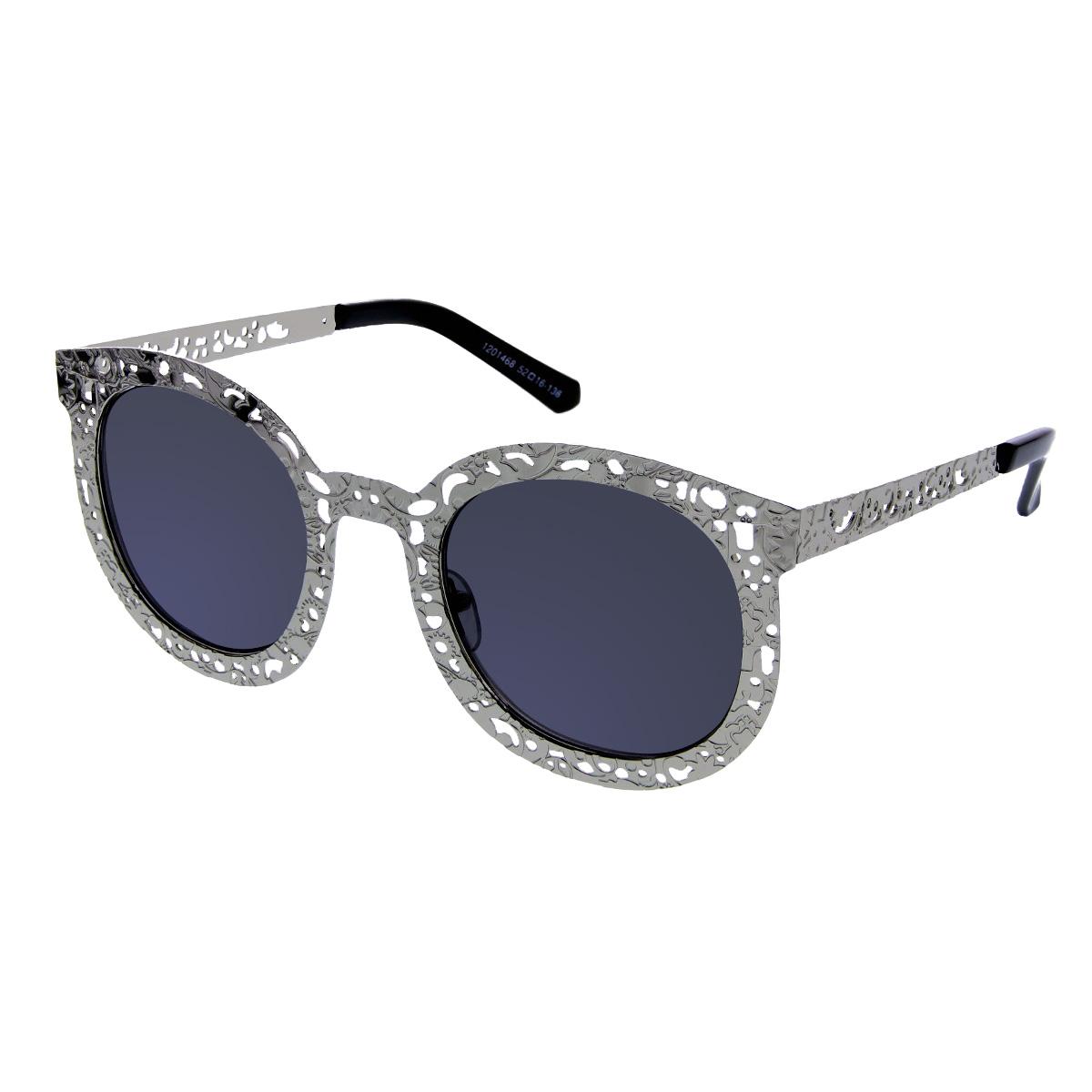 Sluneční brýle Vintage + kožené pouzdro stříbrné
