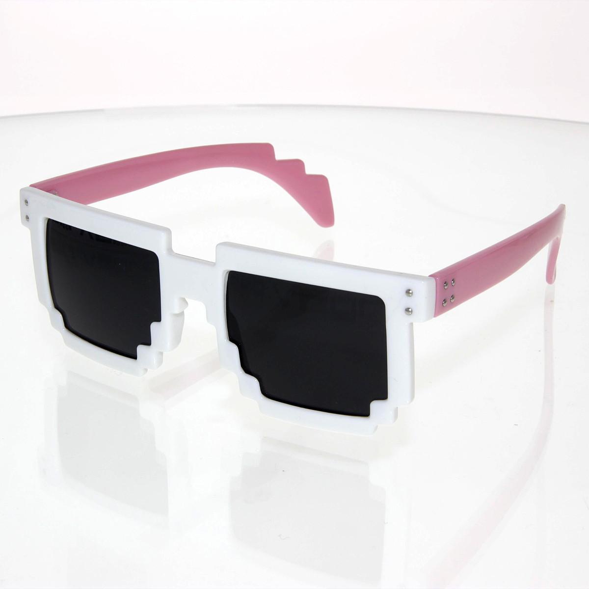 Sluneční brýle Robot bílo-růžové