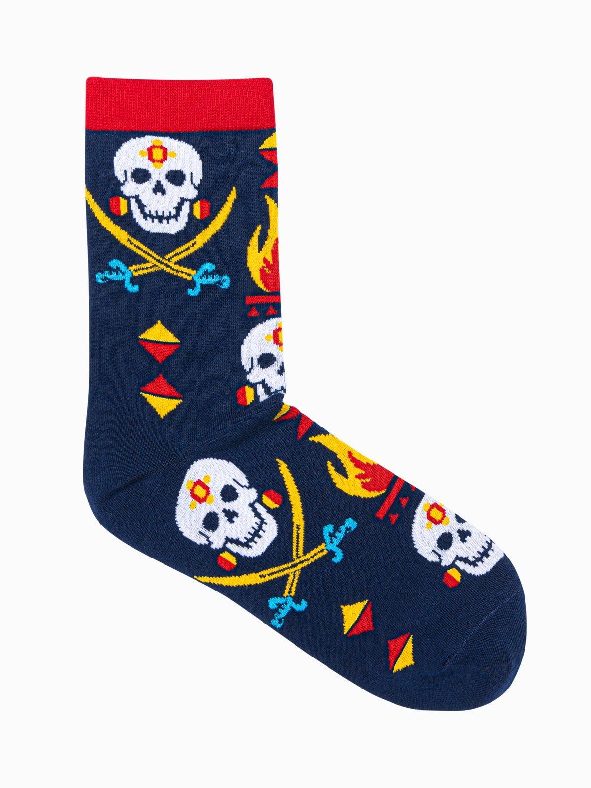 Levně Ombre Clothing Pánské ponožky Marij navy U125