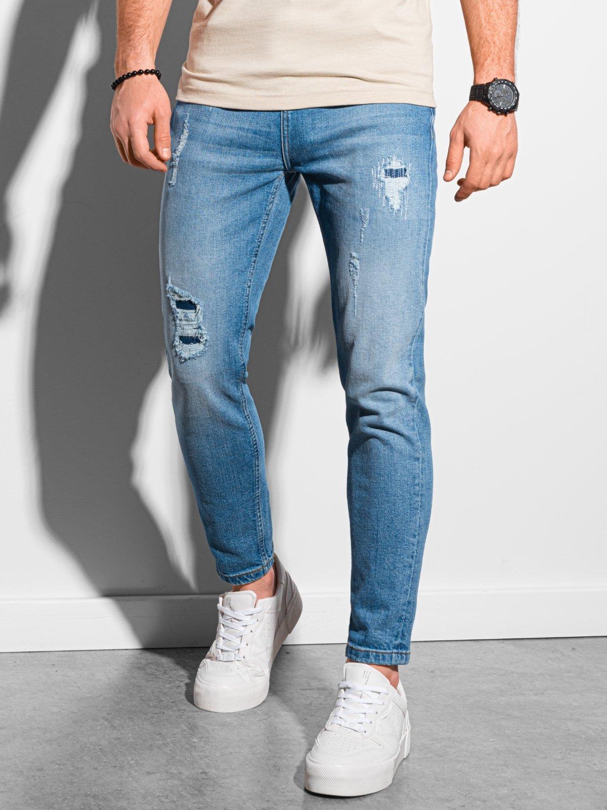 Levně Ombre Clothing Pánské džíny Birger modrá P938