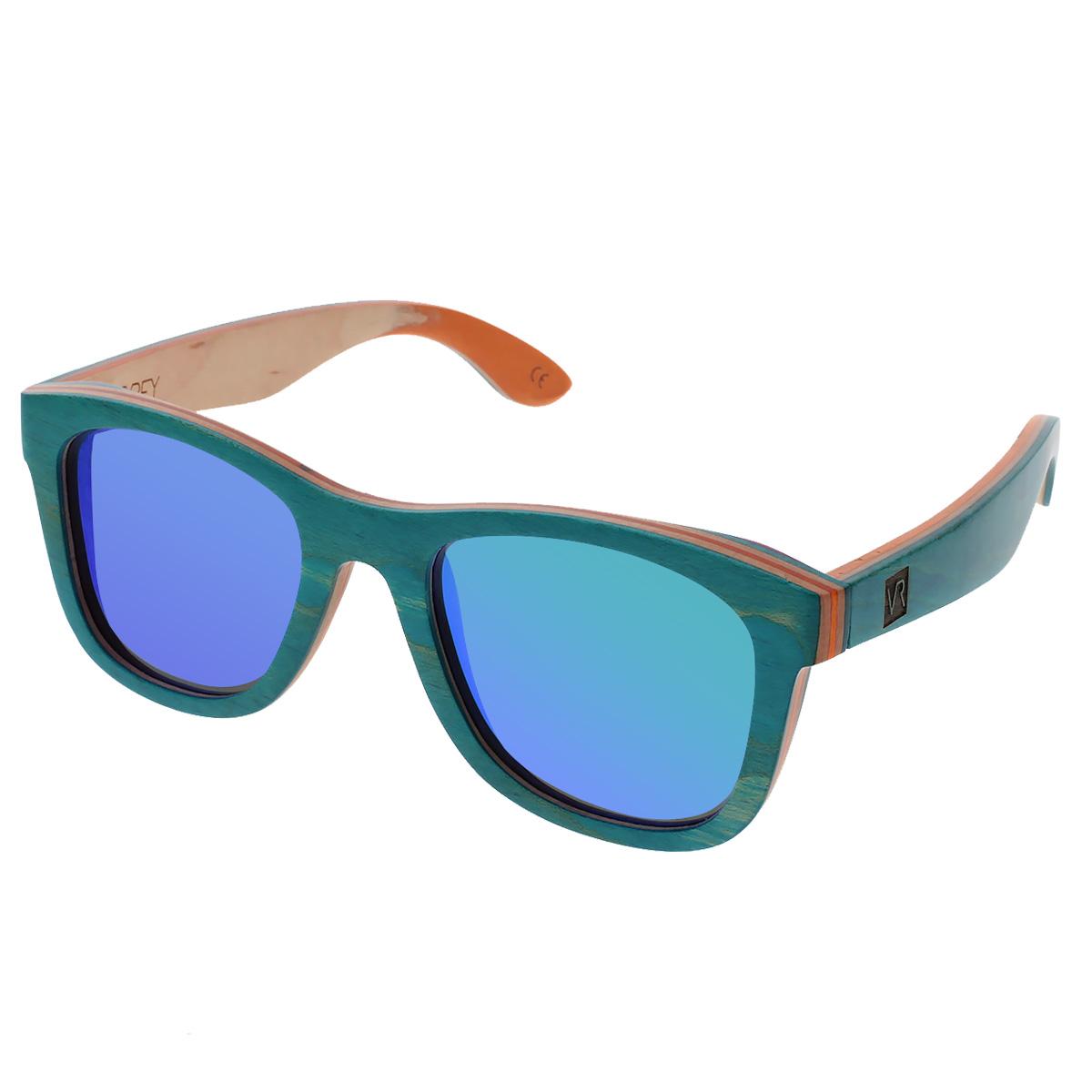 Dřevěné sluneční brýle Metasequoia tyrkysové