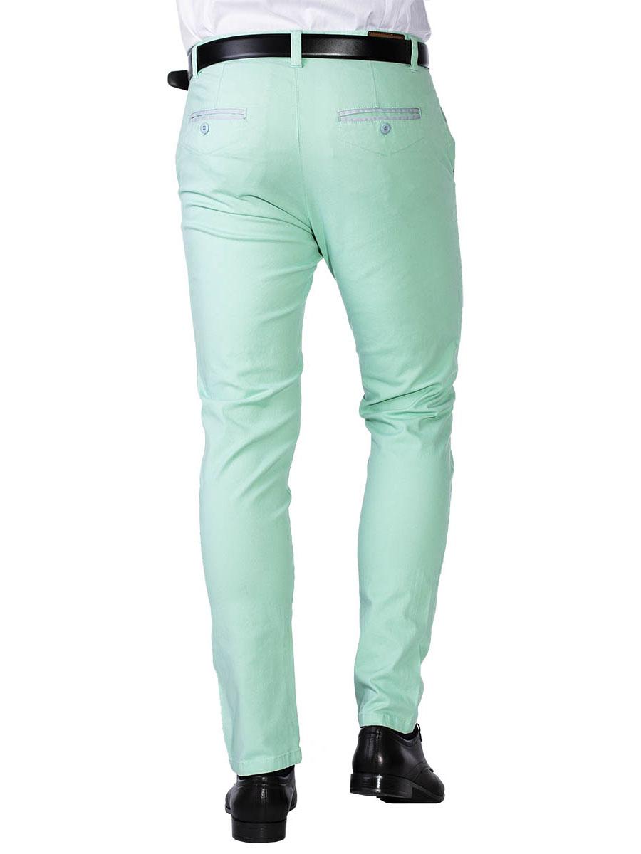 Pánské chino kalhoty Bristle mint S - W30/L32