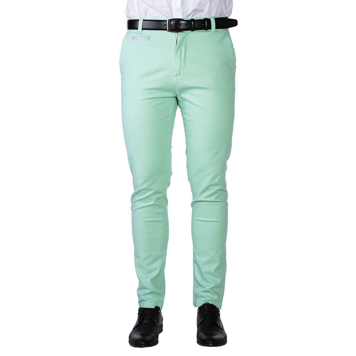 Pánské chino kalhoty Bristle mint S ( W30 / L31 )
