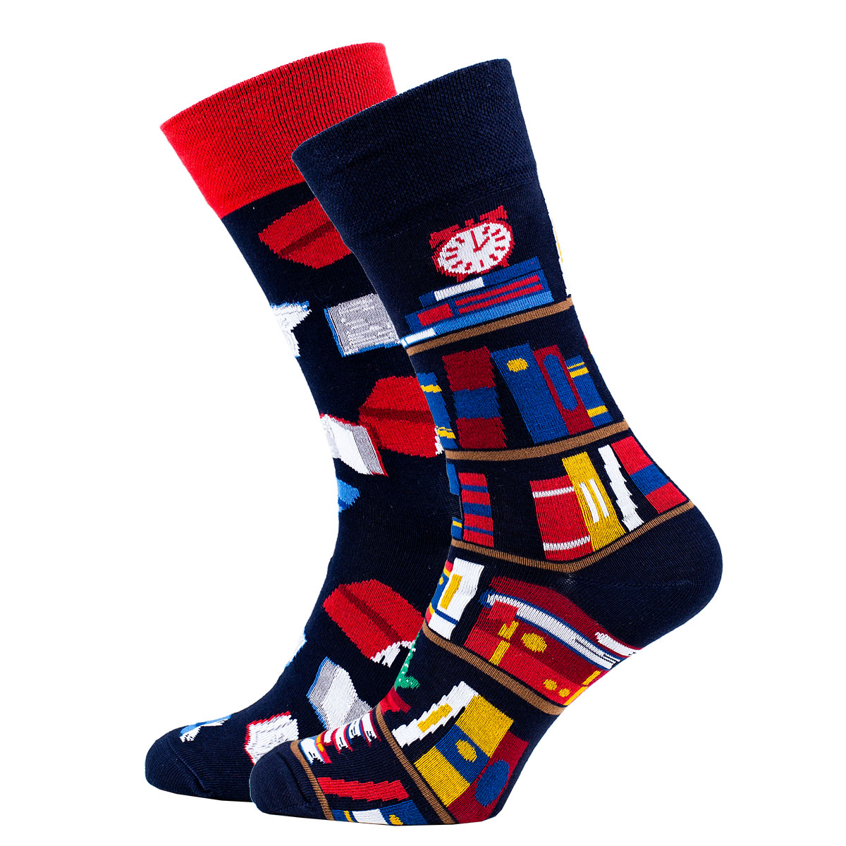Veselé vzorované ponožky The Book Story tmavě modré vel. 35-38