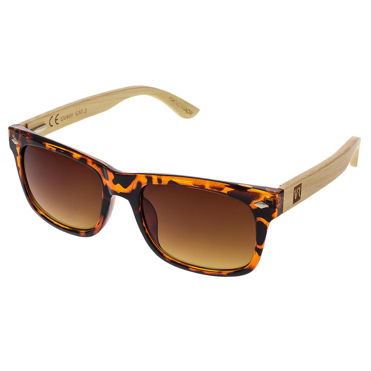 Dřevěné sluneční brýle Sawdust hnědá skla