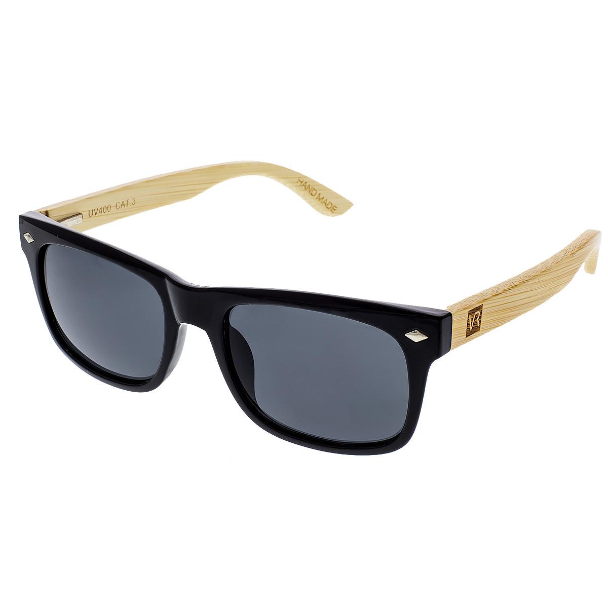 Dřevěné sluneční brýle Sawdust černá skla