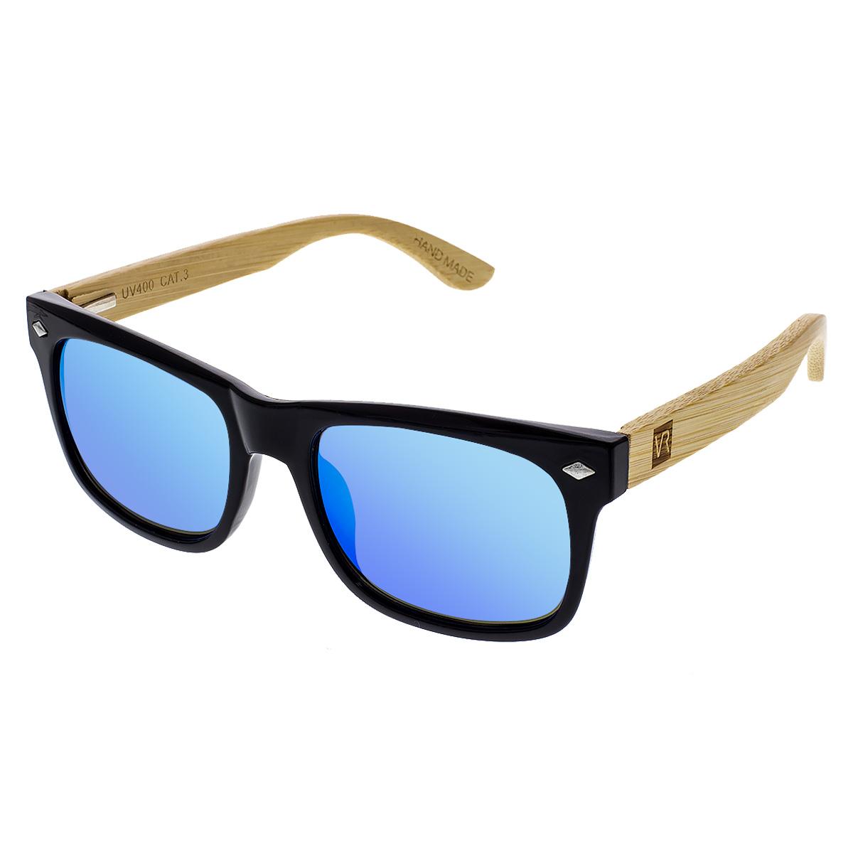 Dřevěné sluneční brýle Sawdustmodrá skla