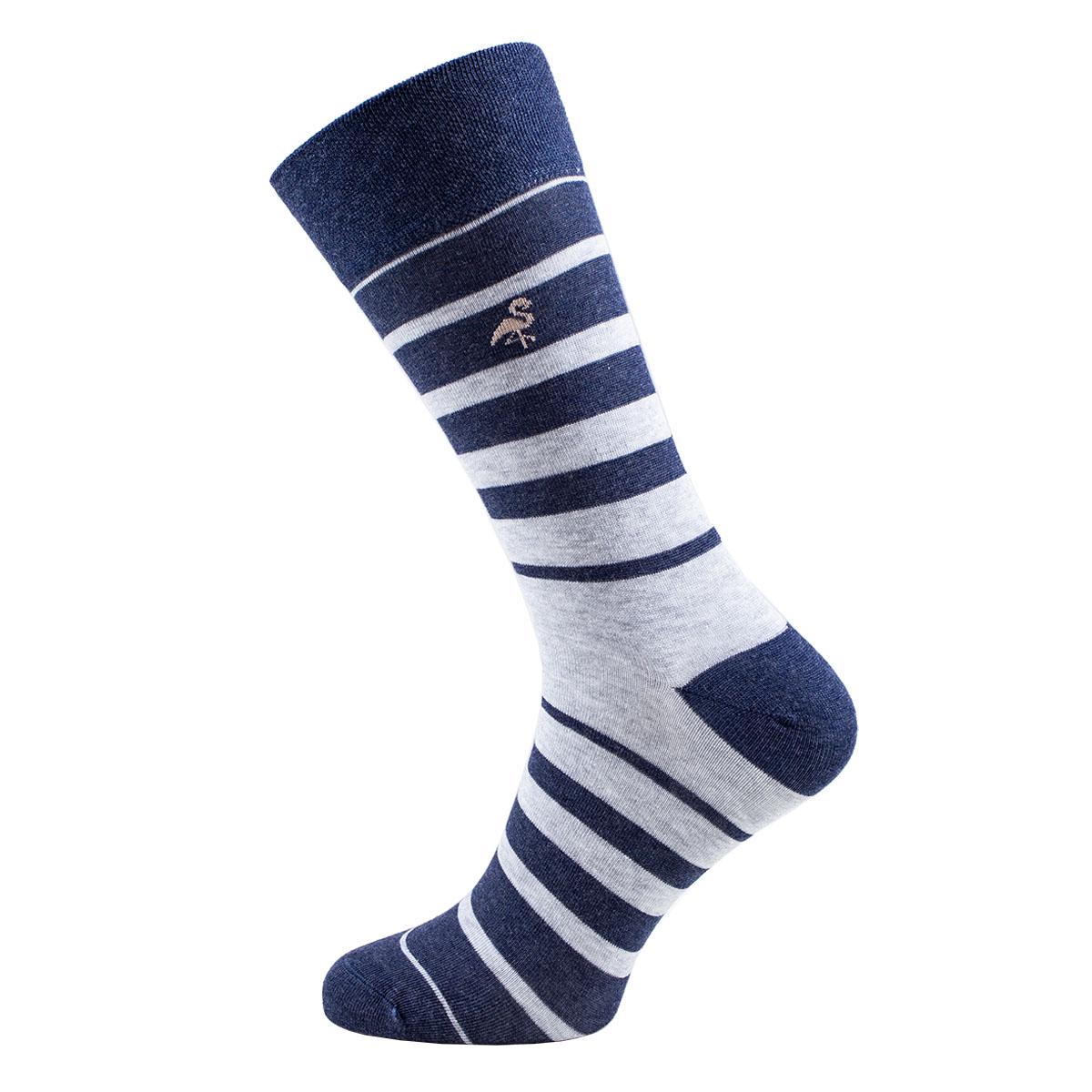 Pánské pruhované ponožky Monday šedé vel. 39-42