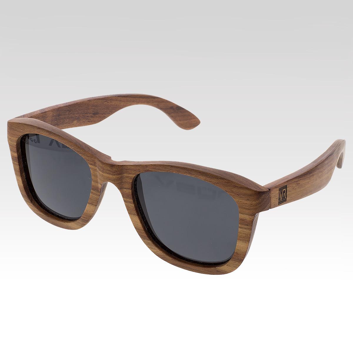 Dřevěné sluneční brýle Larch černá skla