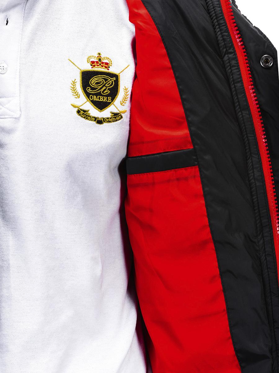 Pánská prošívaná bunda Asgard s kapucí černá S