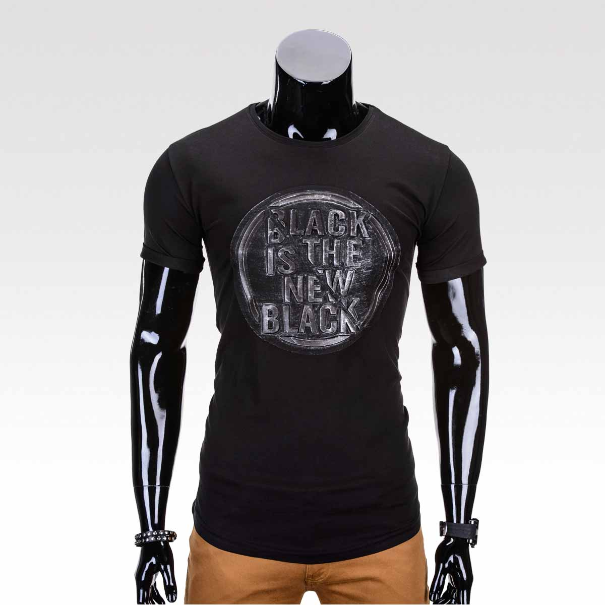 Pánské tričko Stamp černé