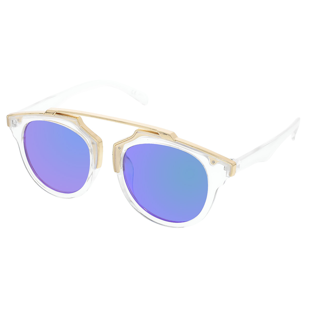 Sluneční brýle Weight pruhledné obroučky zelená skla.