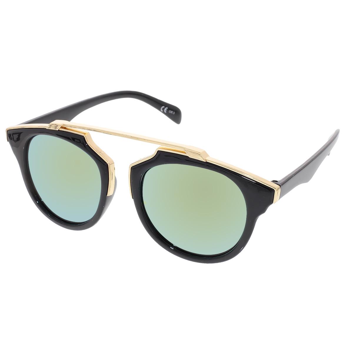 Sluneční brýle Weight černé obroučky zlatá skla.