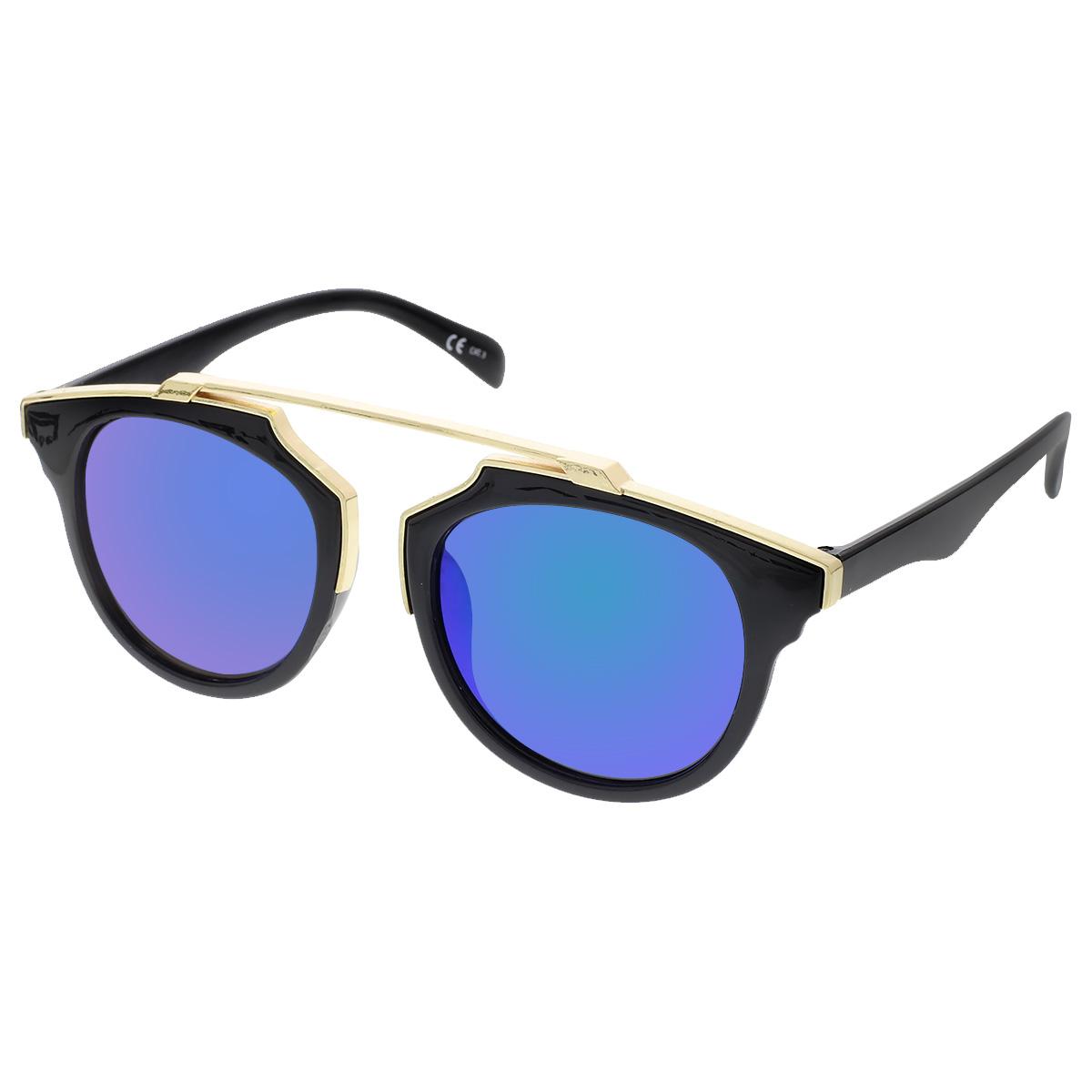 Sluneční brýle Weight černé obroučky zelená skla.