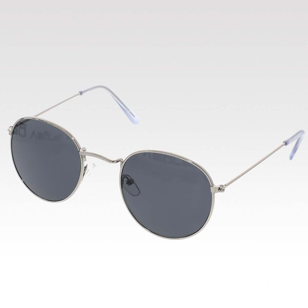 Sluneční brýle Oculos stříbrné obroučky černá skla.