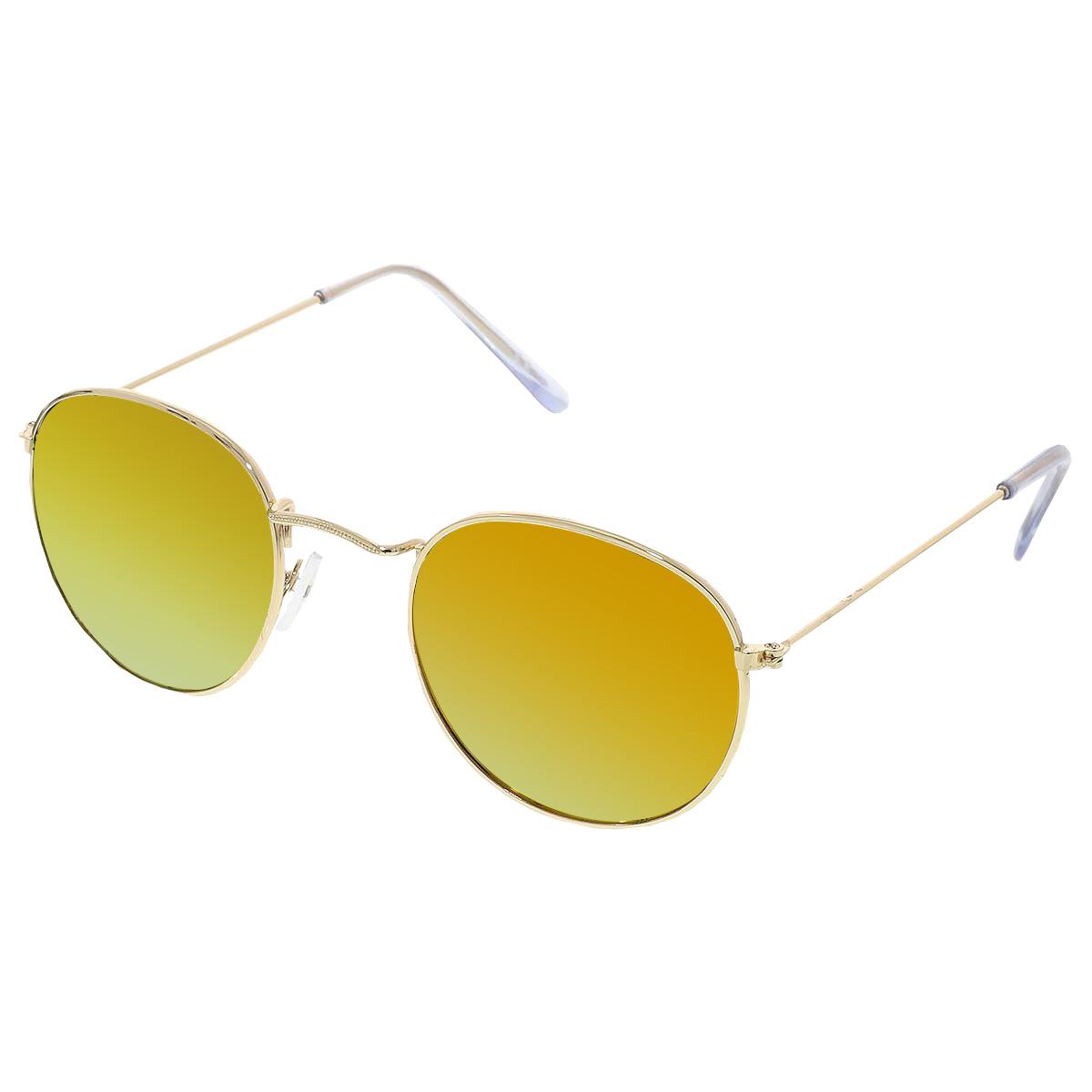 Sluneční brýle Oculos zlaté obroučky červená skla.