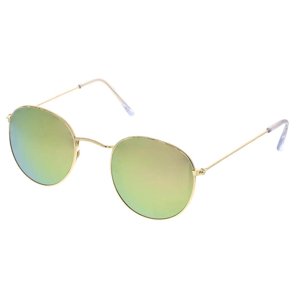 Sluneční brýle Oculos zlaté obroučky růžová skla.