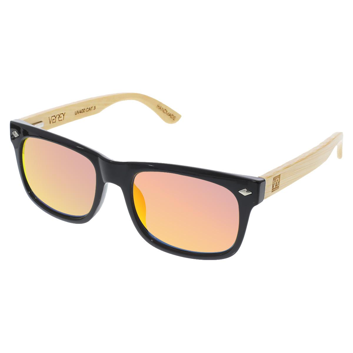 Dřevěné sluneční brýle Sawdust červená skla