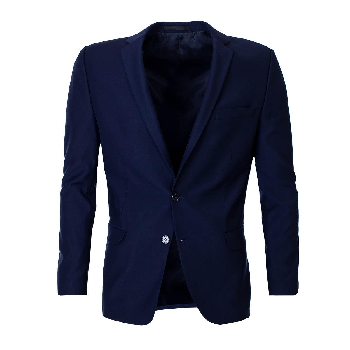 Mens Modern Blazer Stump Dark Blue
