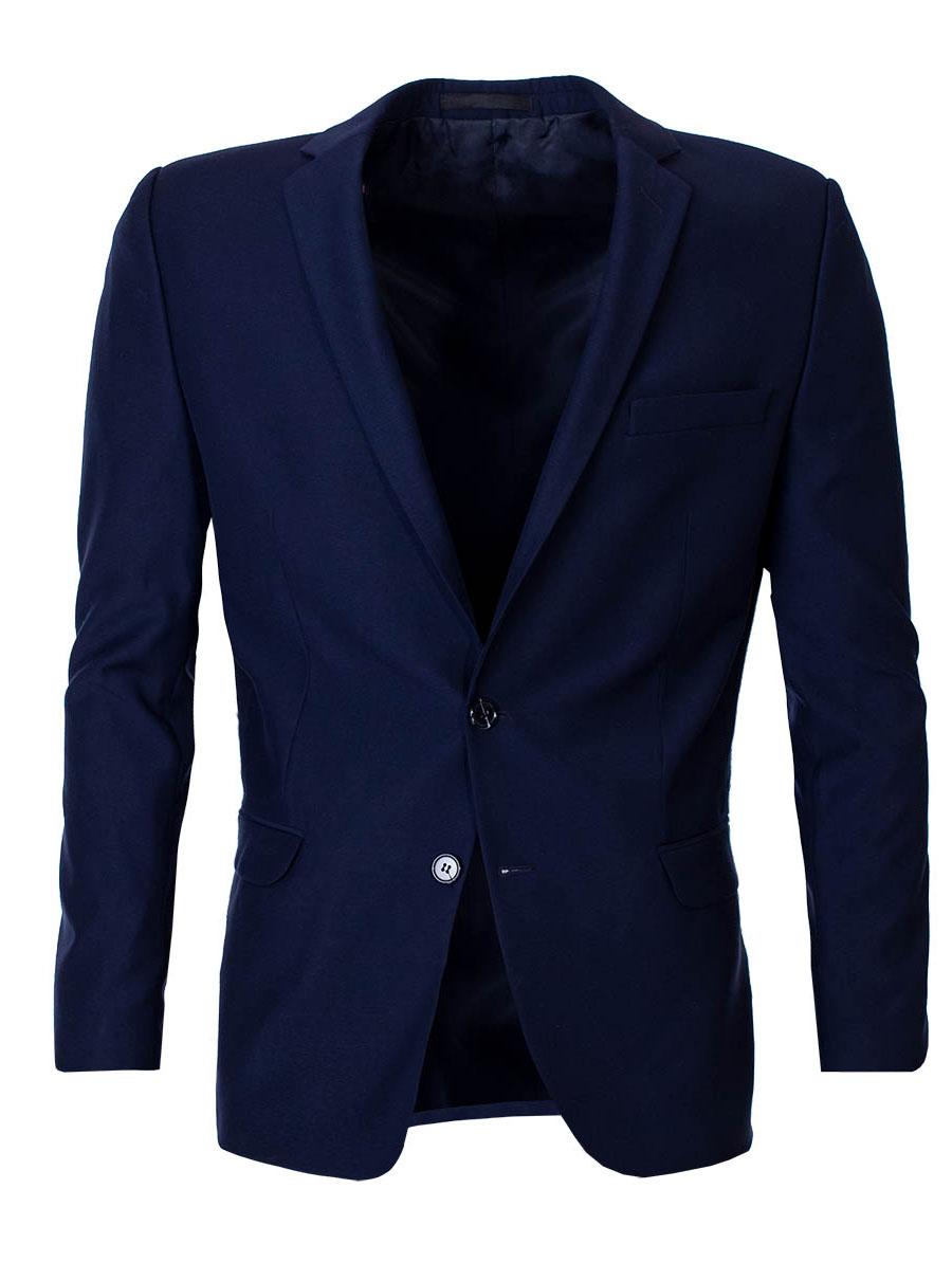 Mens Modern Blazer Stump Dark Blue S