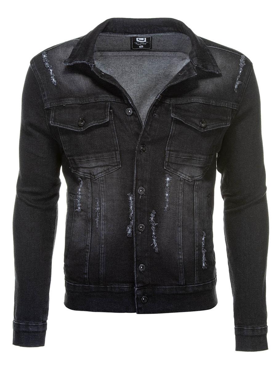 Mens Denim Jacket Founder Black S