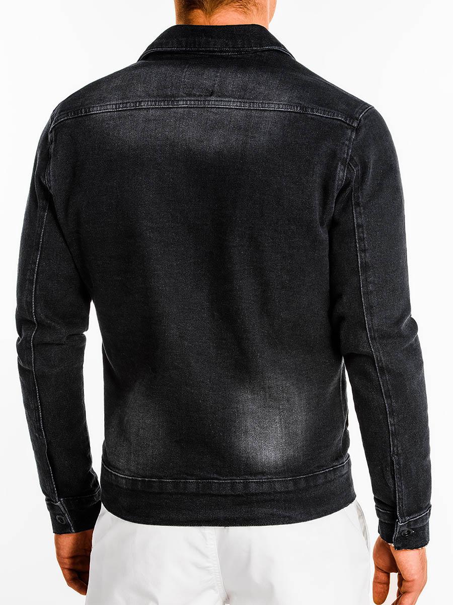 Mens Denim Jacket Founder Black