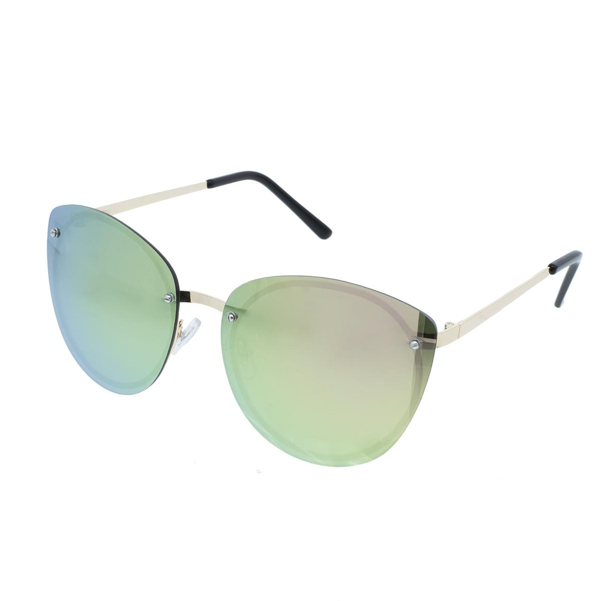 Velké sluneční brýle Plate zlaté obroučky barevná skla