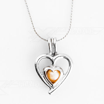 Dámský řetízek Perla přání srdce