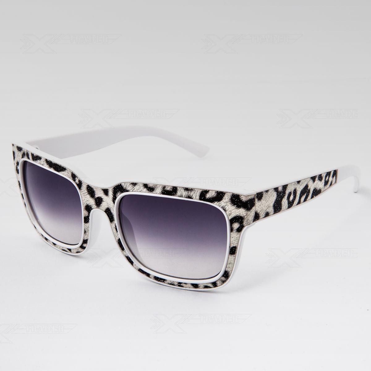 Sluneční brýle Gepard bílé