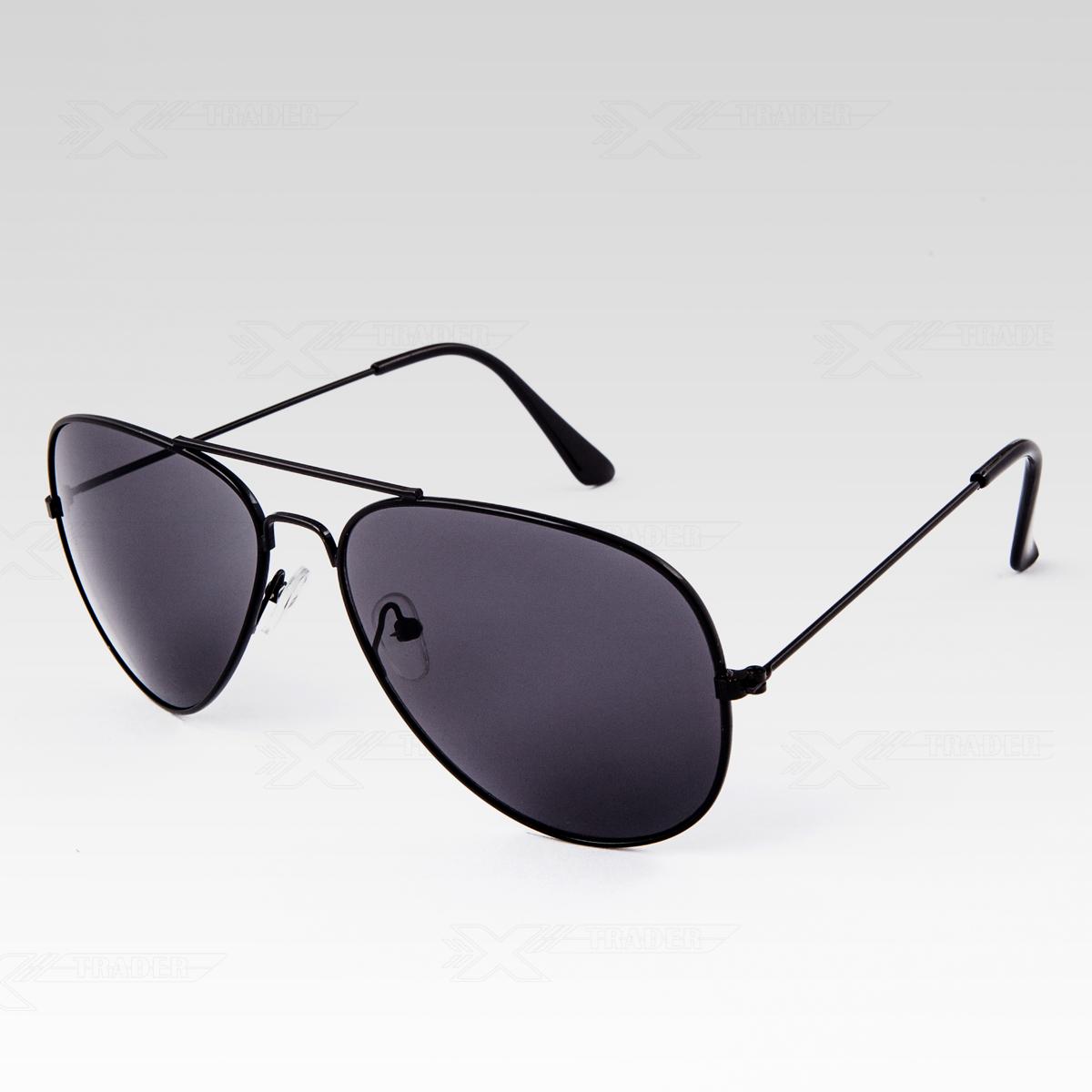 Sluneční brýle Pilotky černé obroučky černé