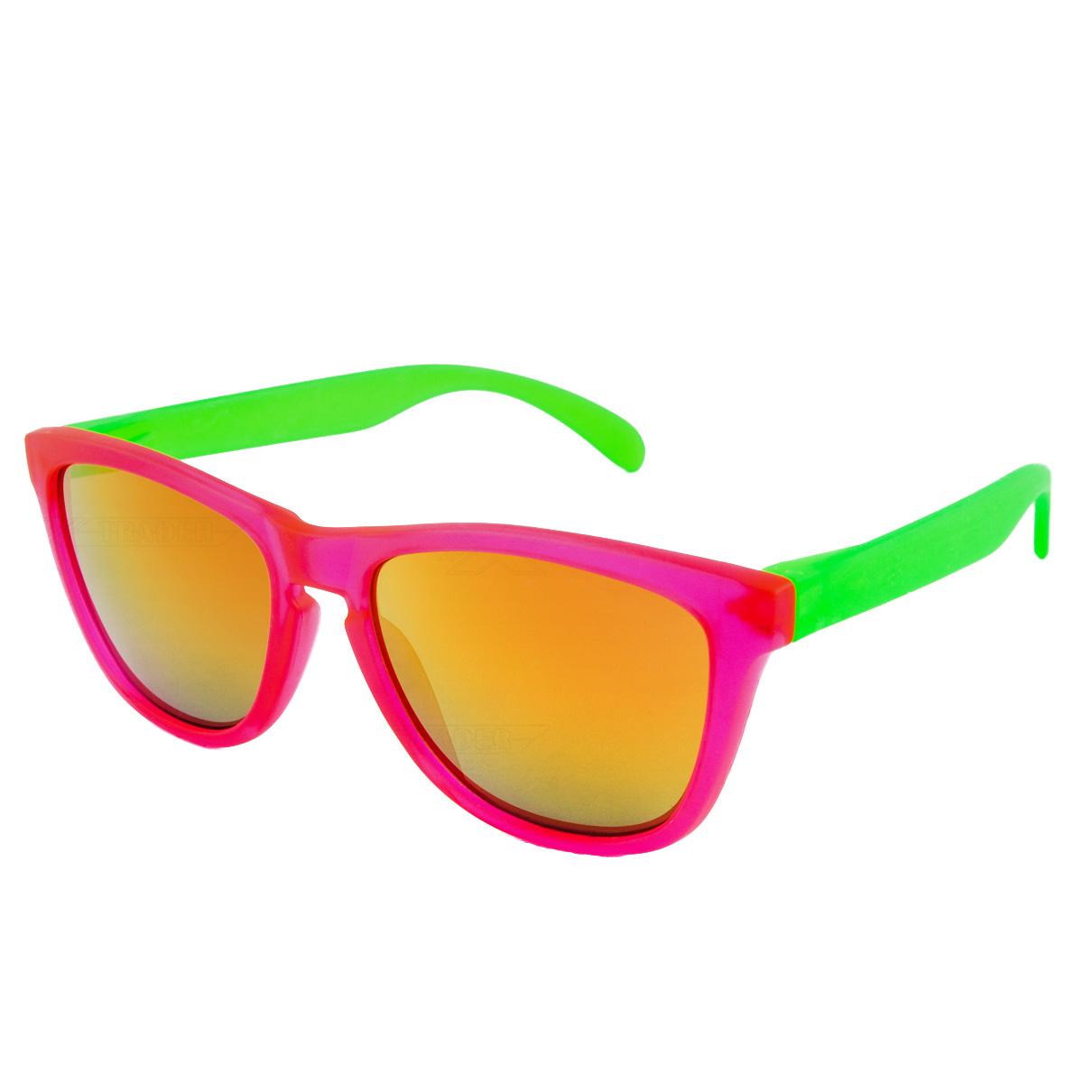 Sluneční brýle Nerd cool růžovo-zelené