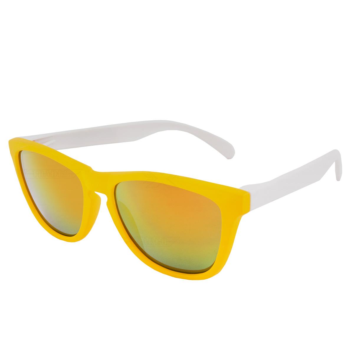 Sluneční brýle Nerd cool žluto-bílé