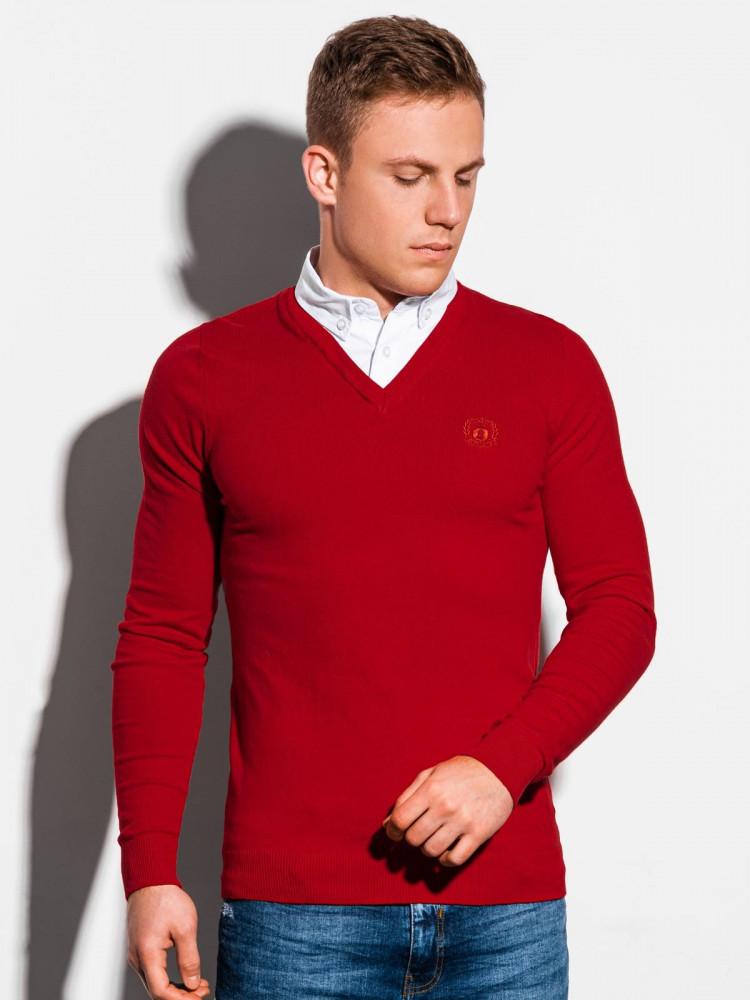 Ombre Clothing Pánský svetr Calvario červený