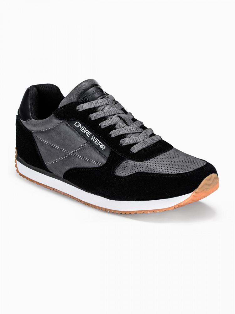 Ombre Clothing Pánské sportovní tenisky Cowan černé
