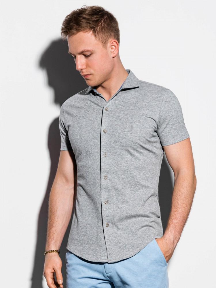 Ombre Clothing Pánská košile Coyne šedá