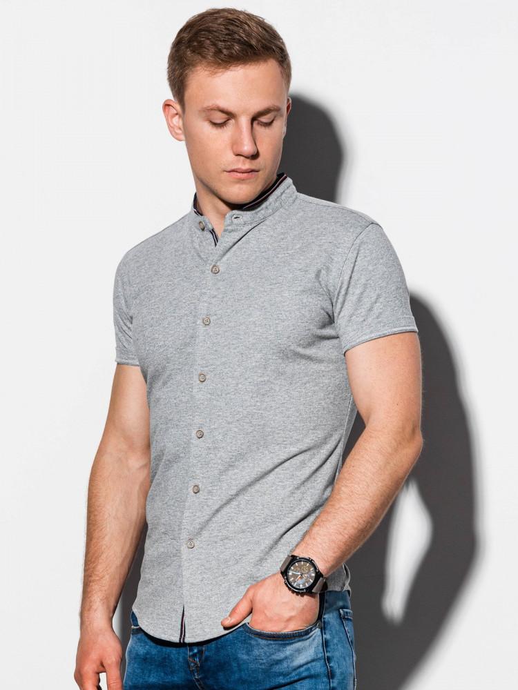 Ombre Clothing Pánská košile Conway šedá