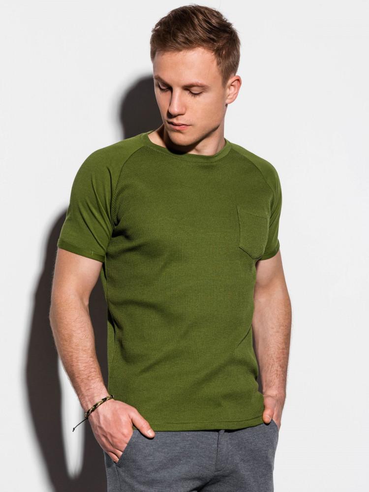 Ombre Clothing Pánské basic tričko Henshaw olivové