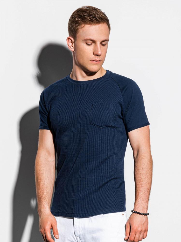 Ombre Clothing Pánské basic tričko Henshaw navy