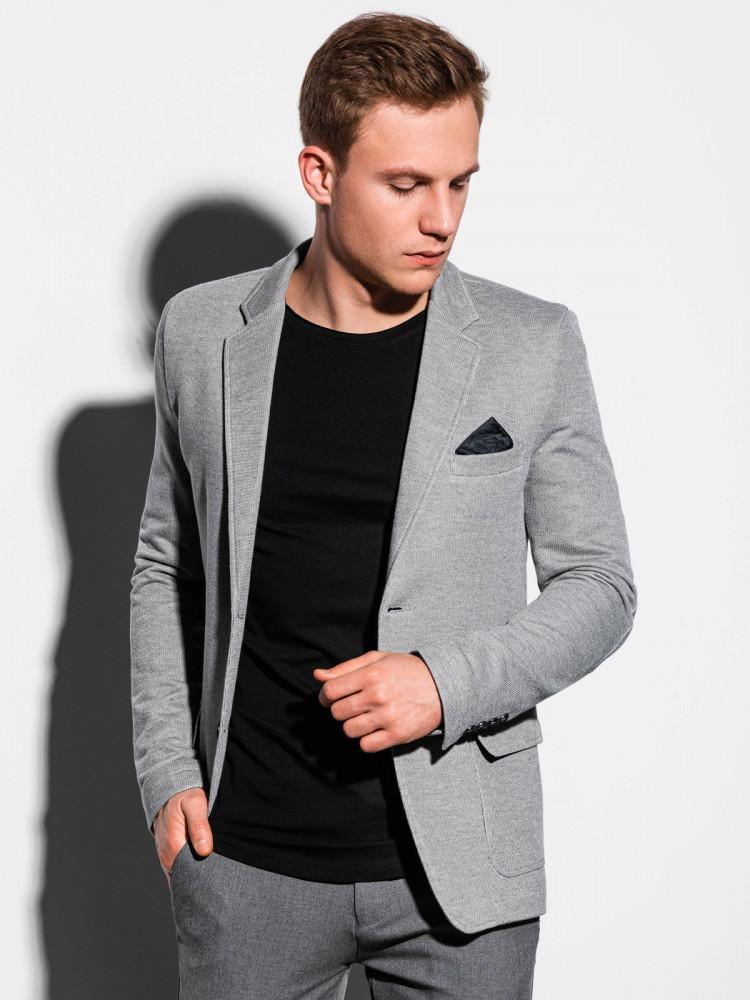 Ombre Clothing Pánské sako Malone šedé
