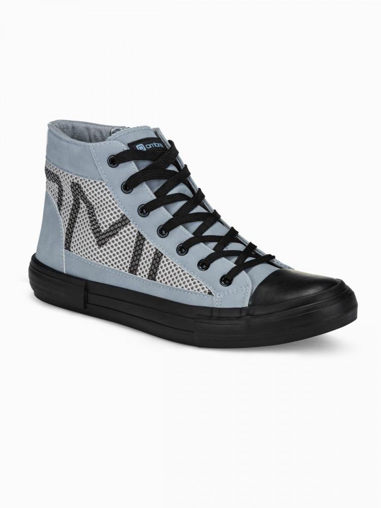 Ombre Clothing Pánské kotníkové boty Harrison šedá