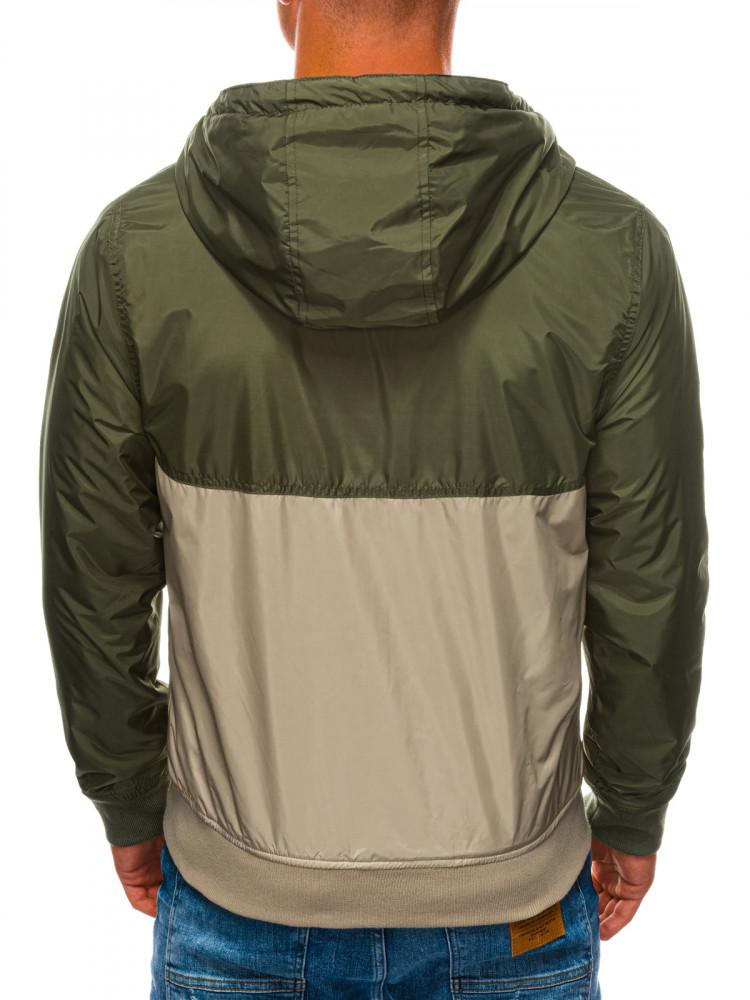 Ombre Clothing Pánská prošívaná přechodová bunda Amadeus zelená