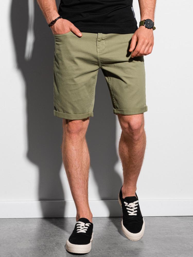 Ombre Clothing Pánské casual kraťasy Finn khaki