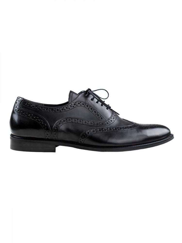 Pánské kožené boty oxfordky Perucci černé vel. 40