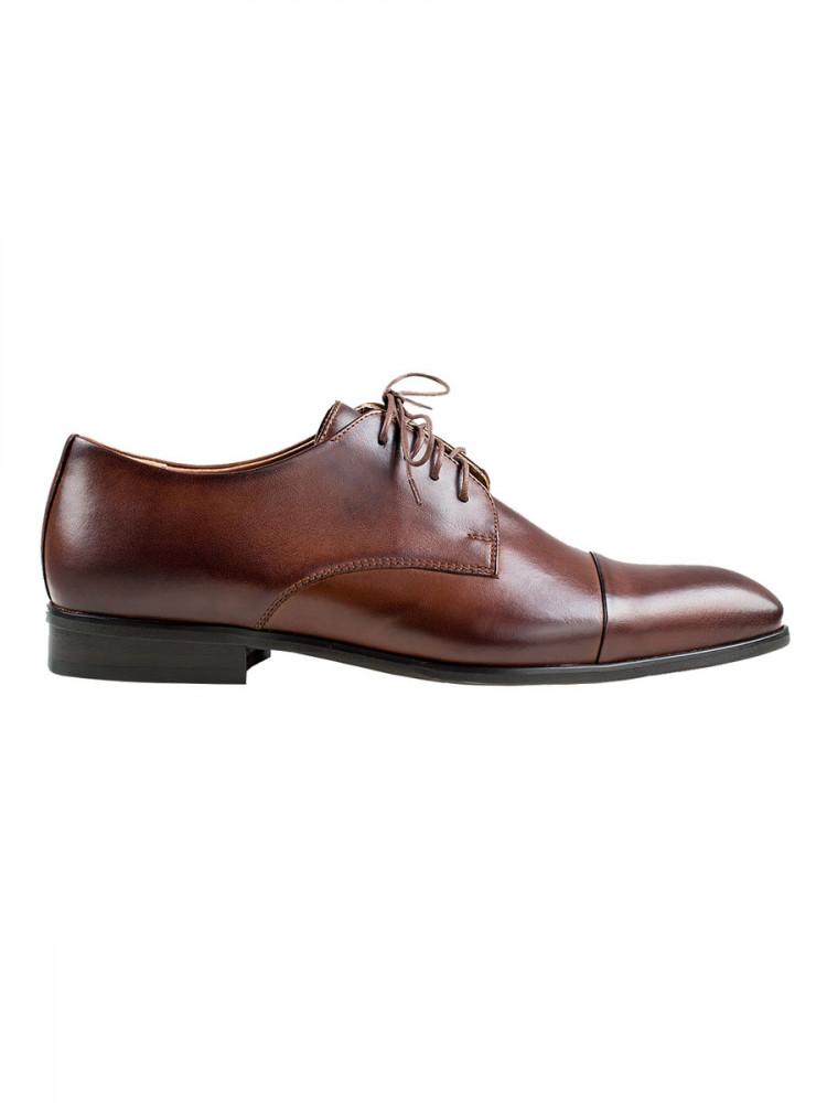 Pánské společenské boty Vincenzo tmavě hnědé vel. 40