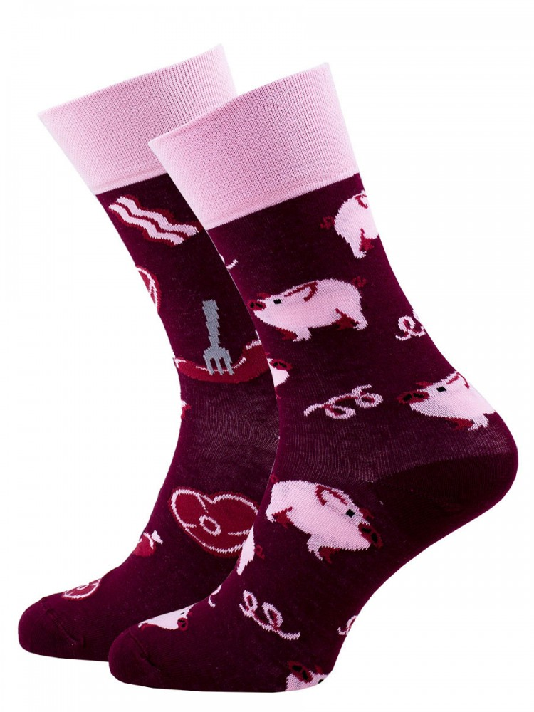 Veselé vzorované ponožky Piggy Tales růžové vel. 35-38