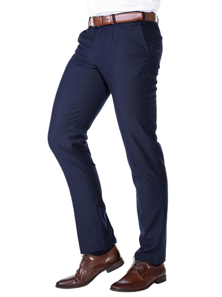 Pánské společenské kalhoty Eduardo navy W31/L32