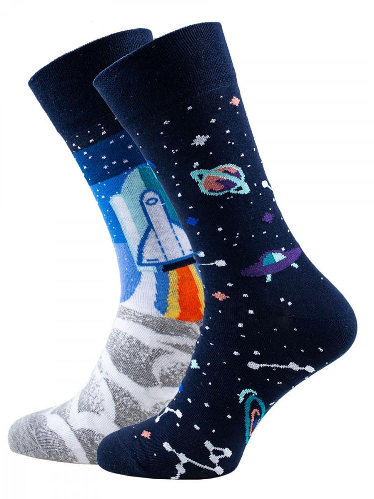 Veselé vzorované ponožky Space Trip multicolor vel. 35-38