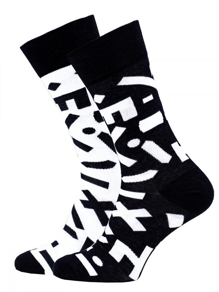 Veselé vzorované ponožky Random černo-bílé vel. 35-38