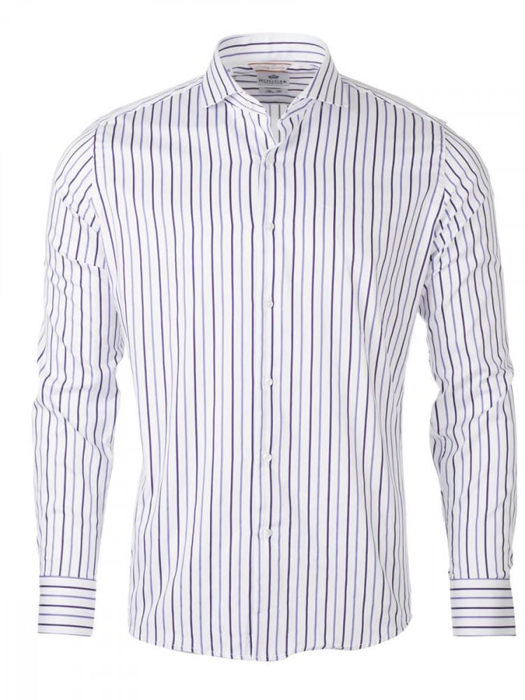 Pánská pruhovaná košile Horizon bílá bílá 38 (170cm)