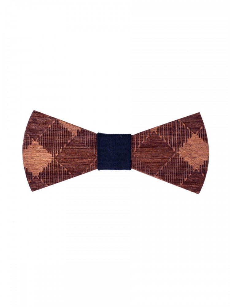 Mens Wooden Bow Tie Shuffle Brown